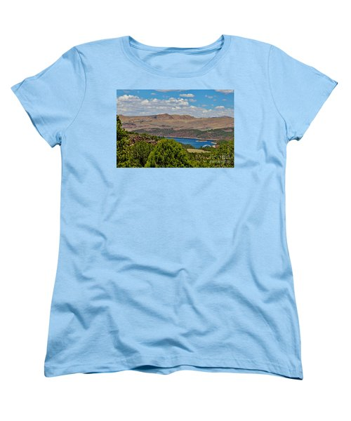 Women's T-Shirt (Standard Cut) featuring the photograph Flaming Gorge by Janice Rae Pariza