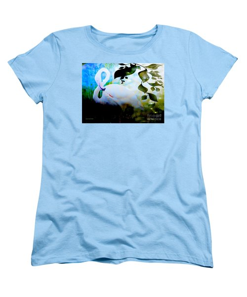Women's T-Shirt (Standard Cut) featuring the photograph Flamingo by Annie Zeno