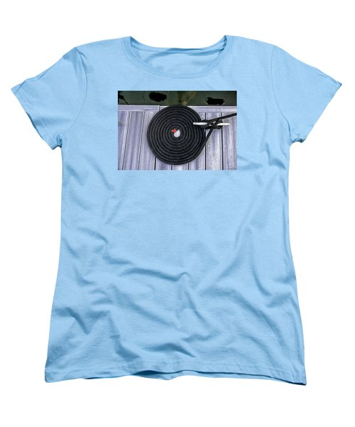 Women's T-Shirt (Standard Cut) featuring the photograph Flemish Flake Rope Coil by Marty Saccone