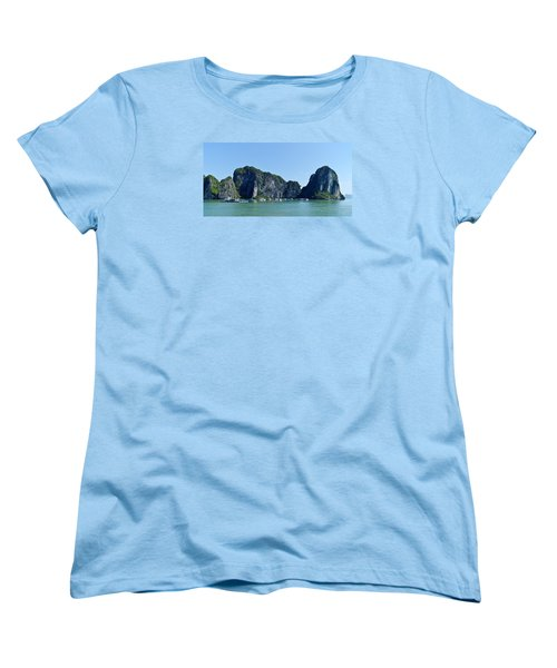 Floating Village Ha Long Bay Women's T-Shirt (Standard Cut) by Scott Carruthers