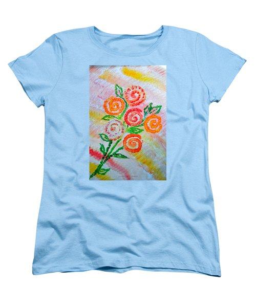 Floralen Traum Women's T-Shirt (Standard Cut) by Sonali Gangane