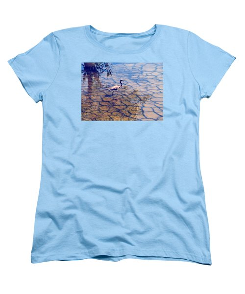 Women's T-Shirt (Standard Cut) featuring the photograph Florida Wetlands Wading Heron by David Mckinney