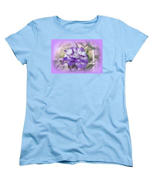 Women's T-Shirt (Standard Cut) featuring the photograph Flower In A Haze by Linda Prewer