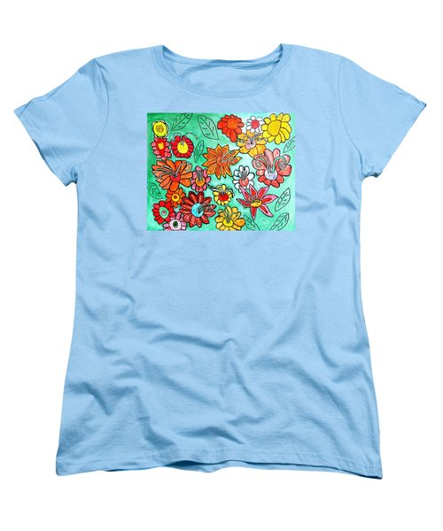 Flower Power Women's T-Shirt (Standard Cut) by Artists With Autism Inc