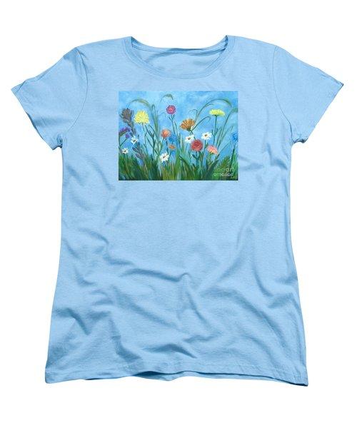 Flowers All Around Women's T-Shirt (Standard Cut)