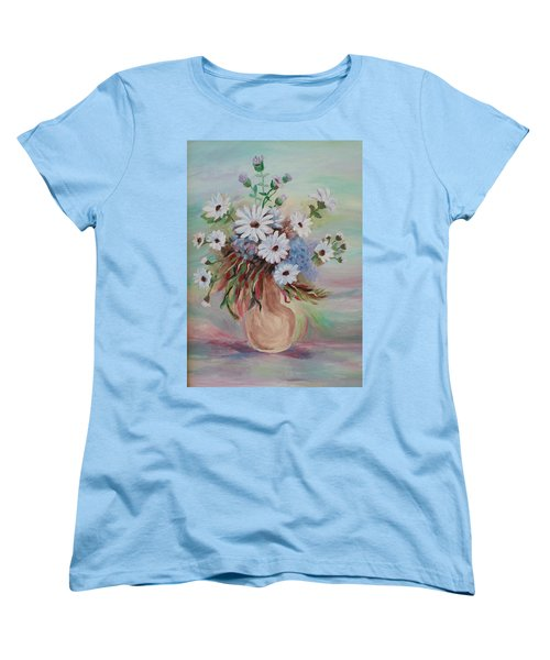 Flowers For Mom Women's T-Shirt (Standard Cut) by Christy Saunders Church