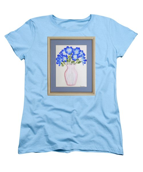 Flowers In A Vase Women's T-Shirt (Standard Cut) by Ron Davidson