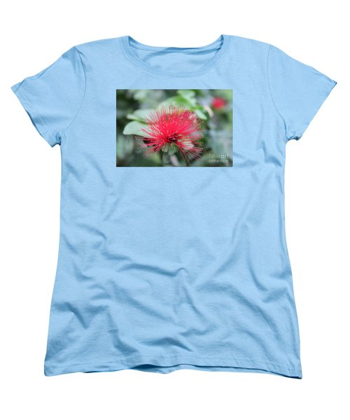 Fluffy Pink Flower Women's T-Shirt (Standard Cut) by Sergey Lukashin