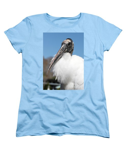 Fluffy Wood Stork Women's T-Shirt (Standard Cut) by Carol Groenen