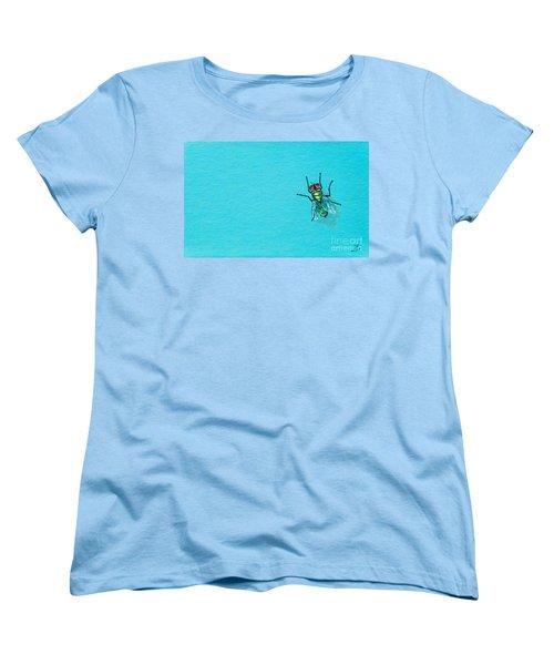Fly On The Wall Women's T-Shirt (Standard Cut) by Stefanie Forck