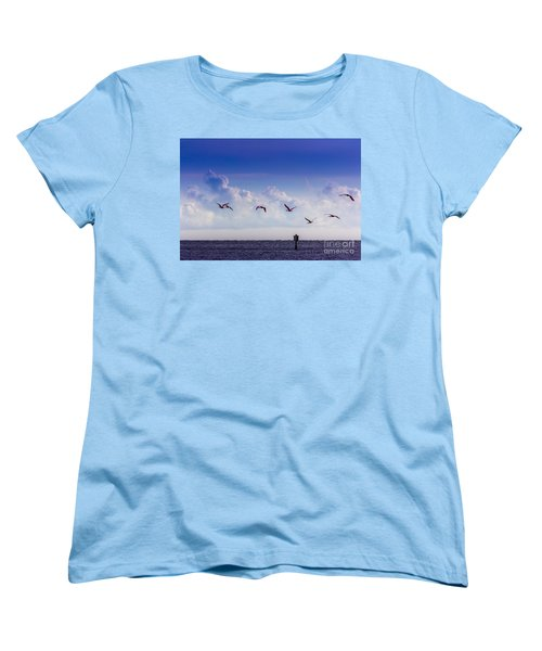 Flying Free Women's T-Shirt (Standard Cut) by Marvin Spates