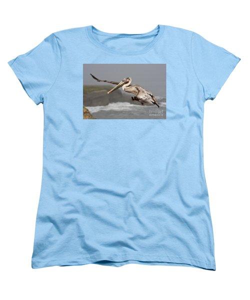 Flying Over La Jolla Women's T-Shirt (Standard Cut) by Bryan Keil