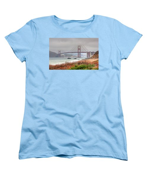 Foggy Bridge Women's T-Shirt (Standard Cut) by Kate Brown