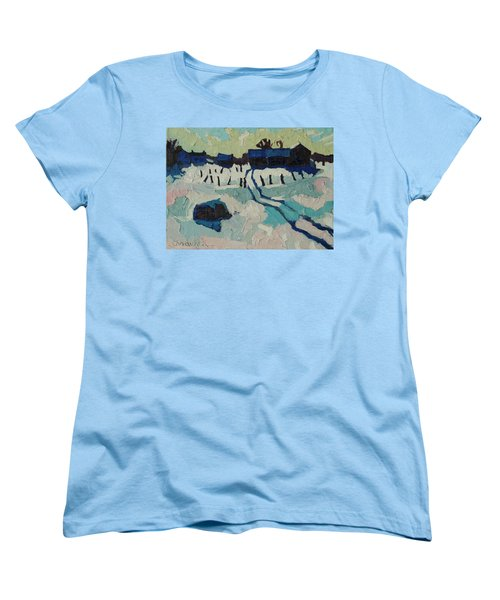 Foley Farm In Winter Women's T-Shirt (Standard Cut) by Phil Chadwick