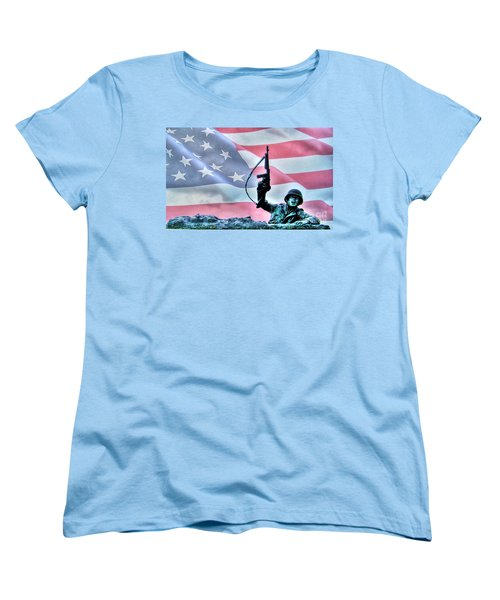 For Freedom Women's T-Shirt (Standard Cut) by Dan Stone