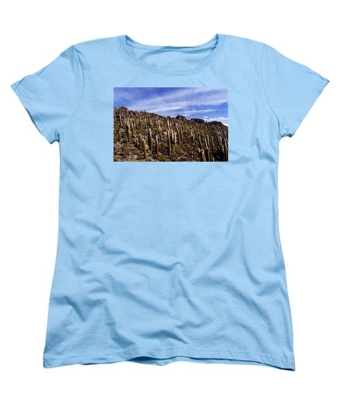 Women's T-Shirt (Standard Cut) featuring the photograph Forest Of Cacti by Lana Enderle