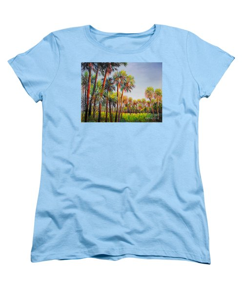 Forest Of Palms Women's T-Shirt (Standard Cut) by Lou Ann Bagnall