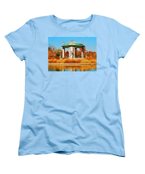 Women's T-Shirt (Standard Cut) featuring the photograph Forest Park Gazebo by Peggy Franz