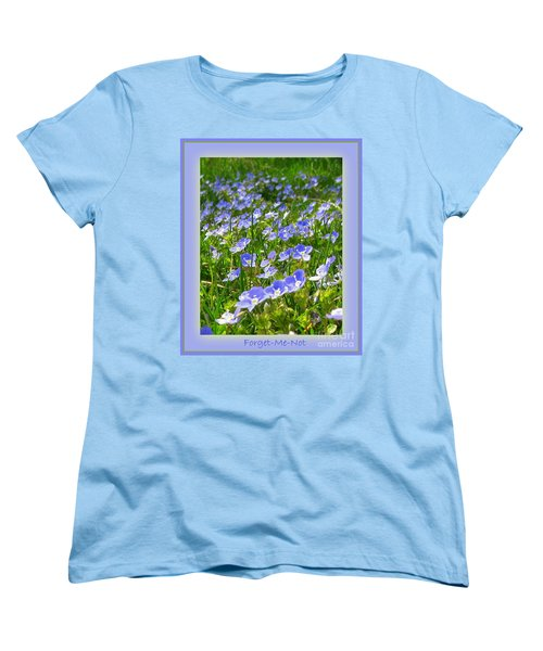 Forget Me Not Women's T-Shirt (Standard Cut) by Leone Lund