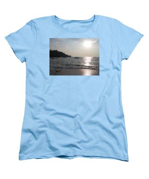 Fort Aguada Beach Women's T-Shirt (Standard Cut) by Mini Arora