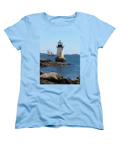 Fort Pickering Light Women's T-Shirt (Standard Cut) by Denyse Duhaime