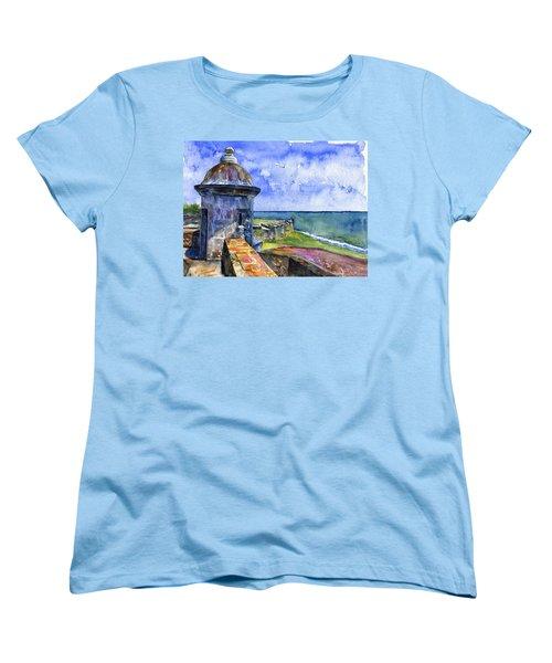 Fort San Juan Puerto Rico Women's T-Shirt (Standard Cut) by John D Benson