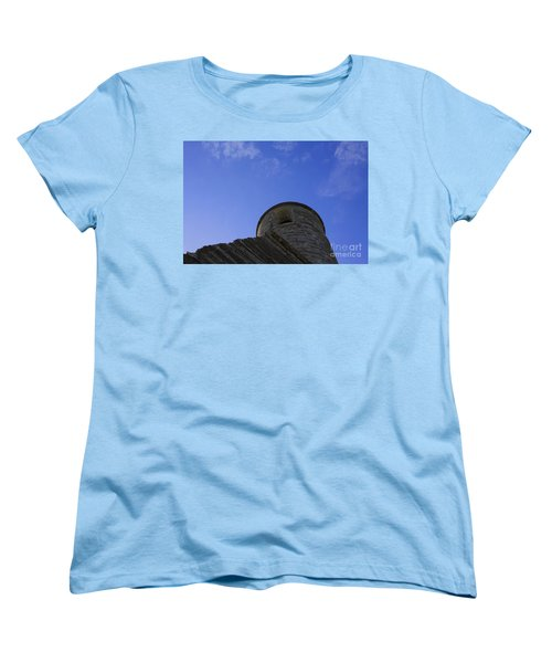 Women's T-Shirt (Standard Cut) featuring the pyrography Fort Tower by Chris Thomas