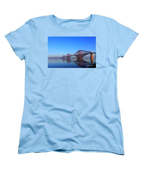 Forth Rail Bridge Women's T-Shirt (Standard Cut) by David Grant