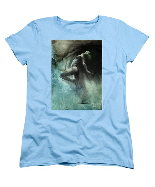 Women's T-Shirt (Standard Cut) featuring the drawing Fount I - Textured by Paul Davenport