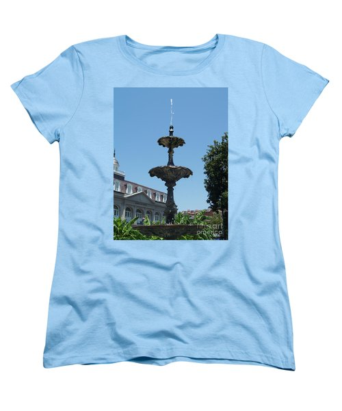 Women's T-Shirt (Standard Cut) featuring the painting Fountain  by Robin Maria Pedrero