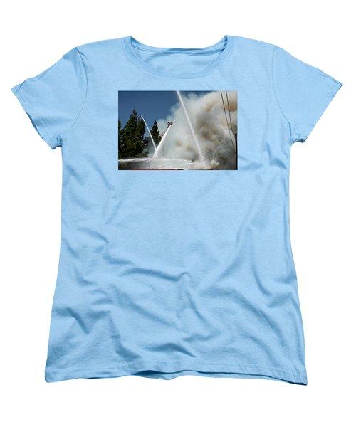 Four Alarm Blaze 003 Women's T-Shirt (Standard Cut) by Lon Casler Bixby