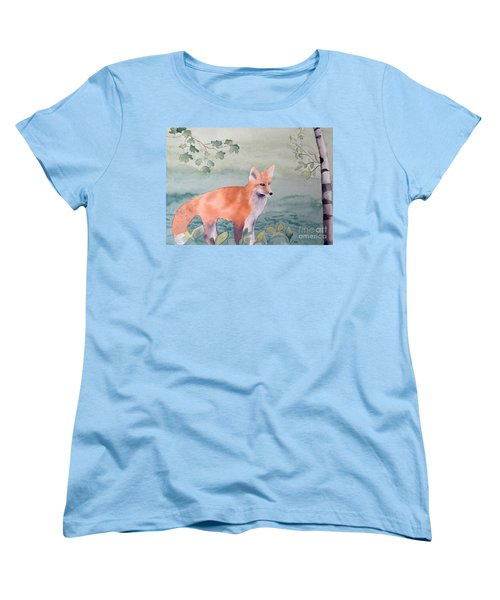 Fox And Birch Women's T-Shirt (Standard Cut) by Laurel Best