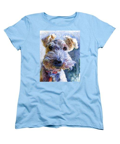 Fox Terrier Full Women's T-Shirt (Standard Cut) by John D Benson