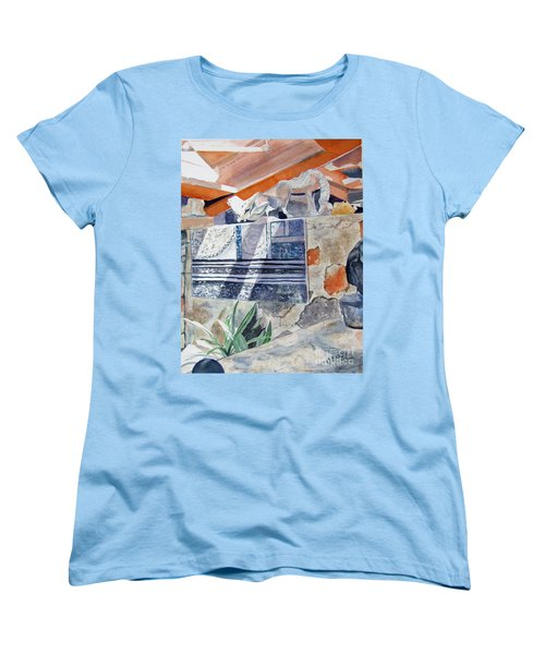 Women's T-Shirt (Standard Cut) featuring the painting Frank Lloyd Wright Taliesin West 2 by Carol Flagg