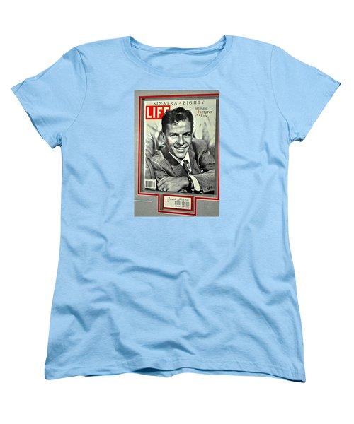 Frank Sinatra Life Cover Women's T-Shirt (Standard Cut) by Jay Milo