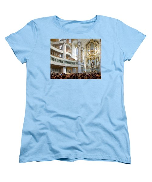 Frauenkirche Women's T-Shirt (Standard Cut) by William Beuther