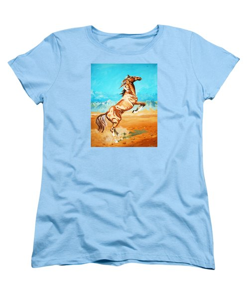Women's T-Shirt (Standard Cut) featuring the painting Free Spirit by Al Brown