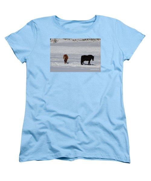 Women's T-Shirt (Standard Cut) featuring the photograph Free Spirits by Fiona Kennard