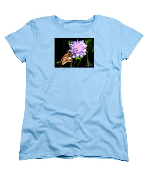 Women's T-Shirt (Standard Cut) featuring the photograph Silver Spotted Skipper by Patti Whitten