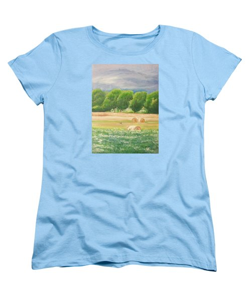 Women's T-Shirt (Standard Cut) featuring the painting Freedom by Jane  See