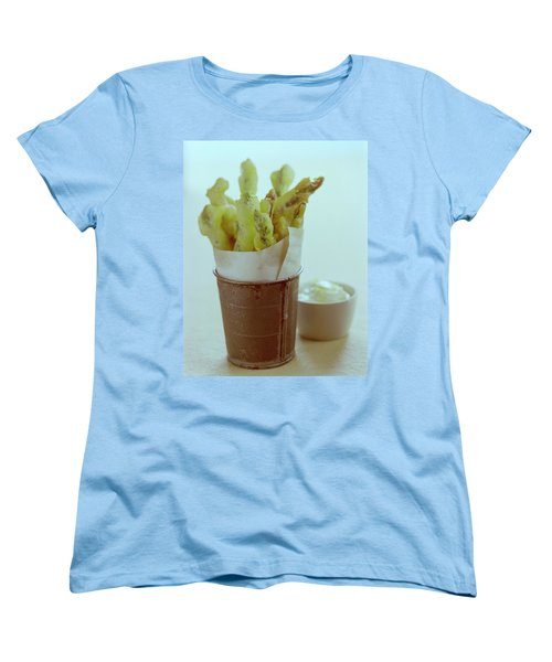 Fried Asparagus Women's T-Shirt (Standard Cut) by Romulo Yanes
