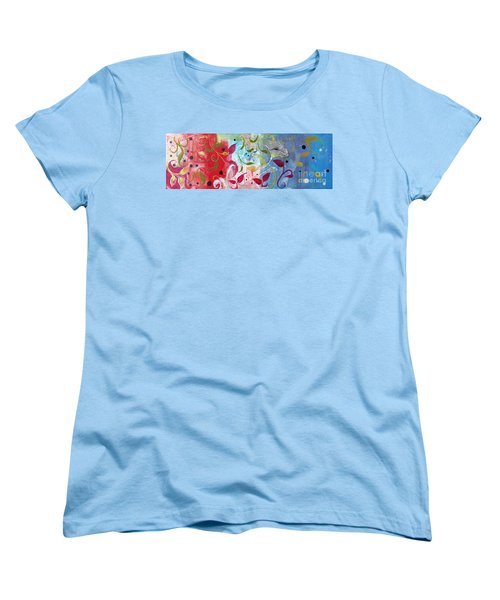 Women's T-Shirt (Standard Cut) featuring the painting Frolic by Robin Maria Pedrero