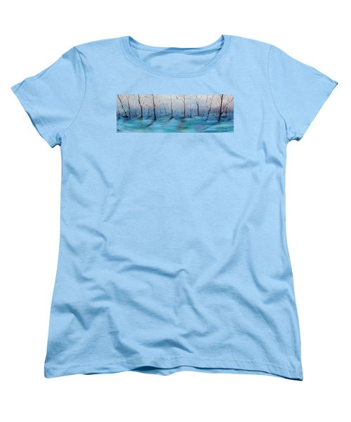 Women's T-Shirt (Standard Cut) featuring the painting Frost Like Ashes by Meaghan Troup