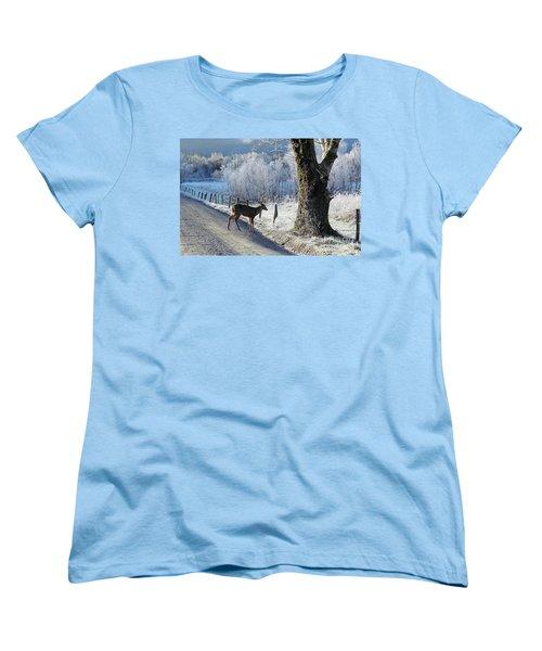 Frosty Cades Cove II Women's T-Shirt (Standard Cut) by Douglas Stucky