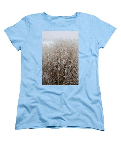 Frozen Grass Women's T-Shirt (Standard Cut) by Debbie Hart
