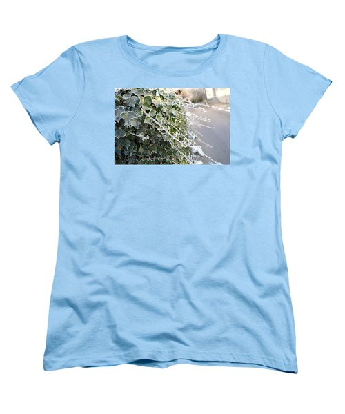 Women's T-Shirt (Standard Cut) featuring the painting Frozen Hedera Helix by Felicia Tica