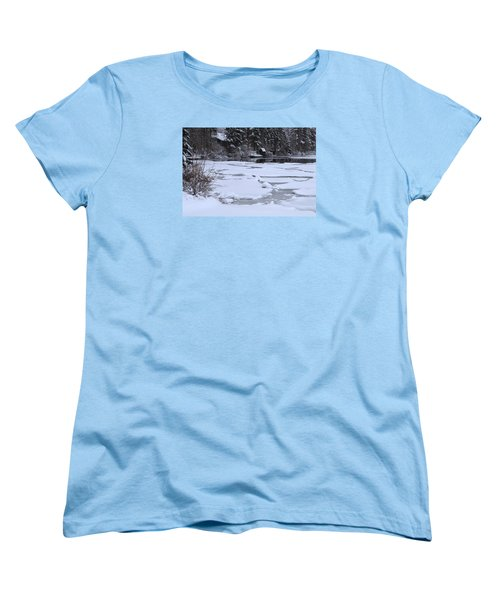 Frozen Silence  Women's T-Shirt (Standard Cut) by Duncan Selby