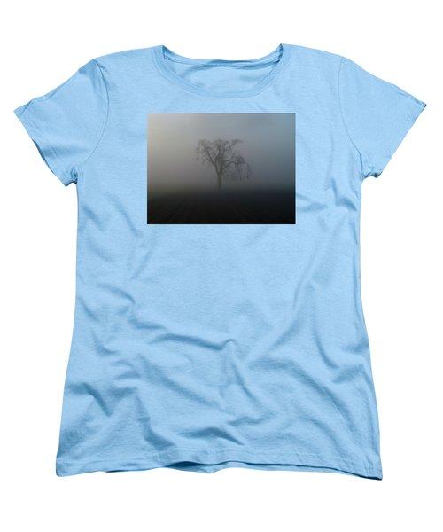 Garry Oak In Fog Women's T-Shirt (Standard Cut) by Cheryl Hoyle