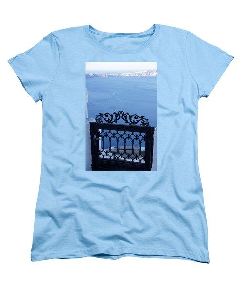 Gated Caldera Women's T-Shirt (Standard Cut) by Debi Demetrion