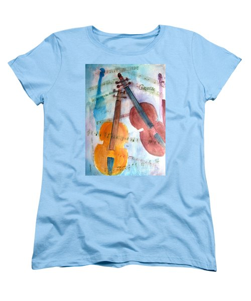 Women's T-Shirt (Standard Cut) featuring the painting Gavotte by Sandy McIntire